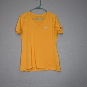 Goldenrod Under Armour V Neck Work Out Top